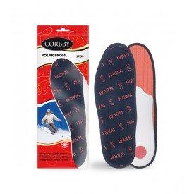 CORBBY Jesienno-zimowe wkładki do butów POLAR PROFIL