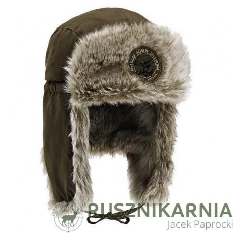 PINEWOOD Czapka zimowa model Murmańsk Futro Nauszniki
